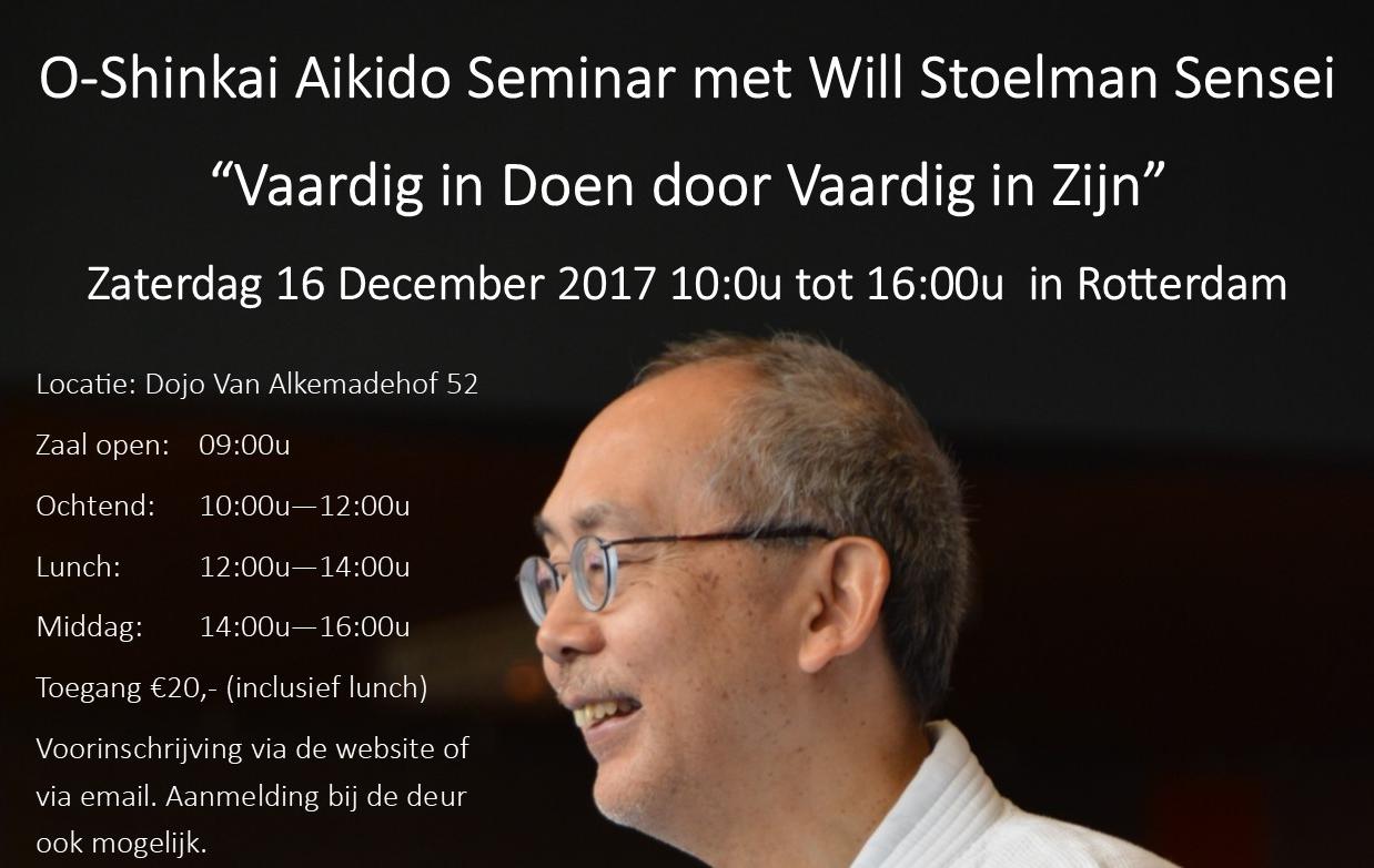 Seminar met Will Stoelman