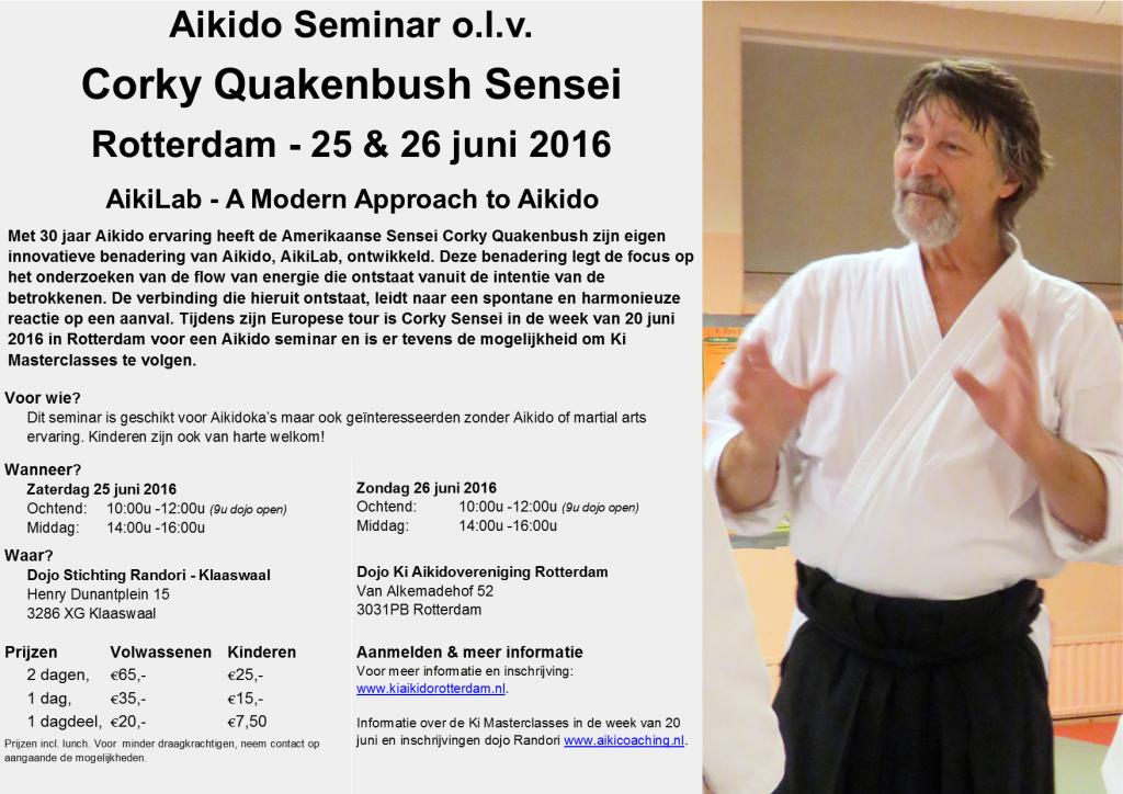 Uitnodiging Seminar Corky Sensei 20160626